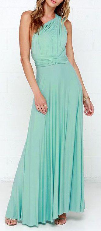 Tricks of the Trade Mint Green Maxi Dress | Green maxi dresses ...