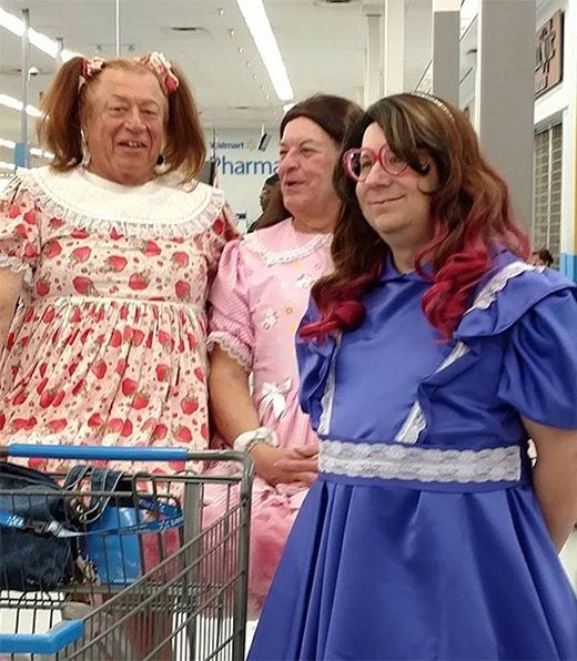 Dresses for Grandpa at Walmart - Funny Pictures at Walmart