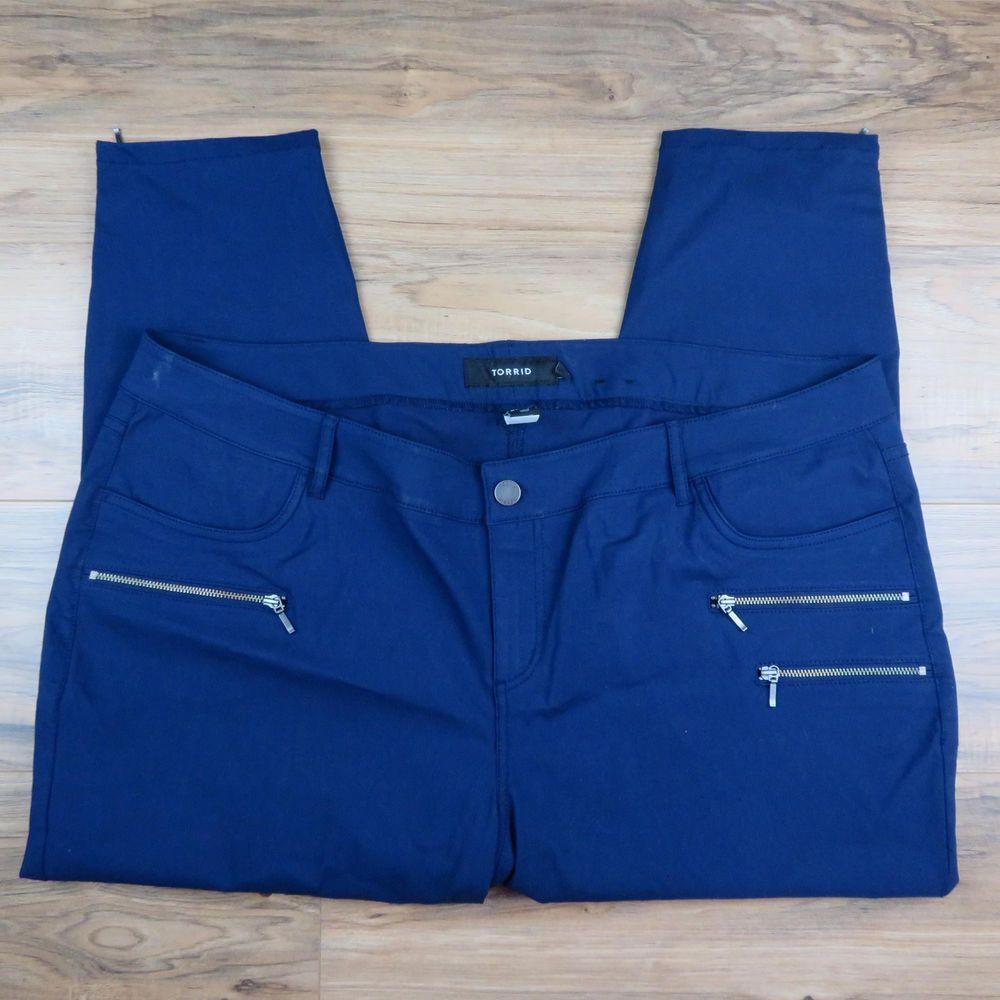 6e113f6db47 Torrid Crop Dress Pants Size 22 Women Navy Blue Skinny Stretch Pants Zipper   fashion  clothing  shoes  accessories  womensclothing  pants (ebay link)