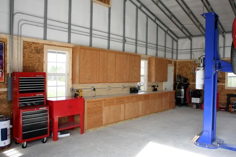 Garage shop ideas garage workspace arrangement ideas use pics and links if you have for Design your own garage workshop