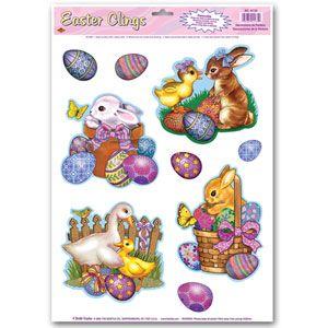 Easter Animal Window Clings
