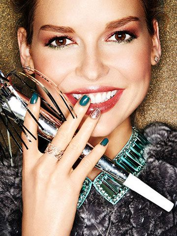 convivial holiday makeup that stuns teal it's the most