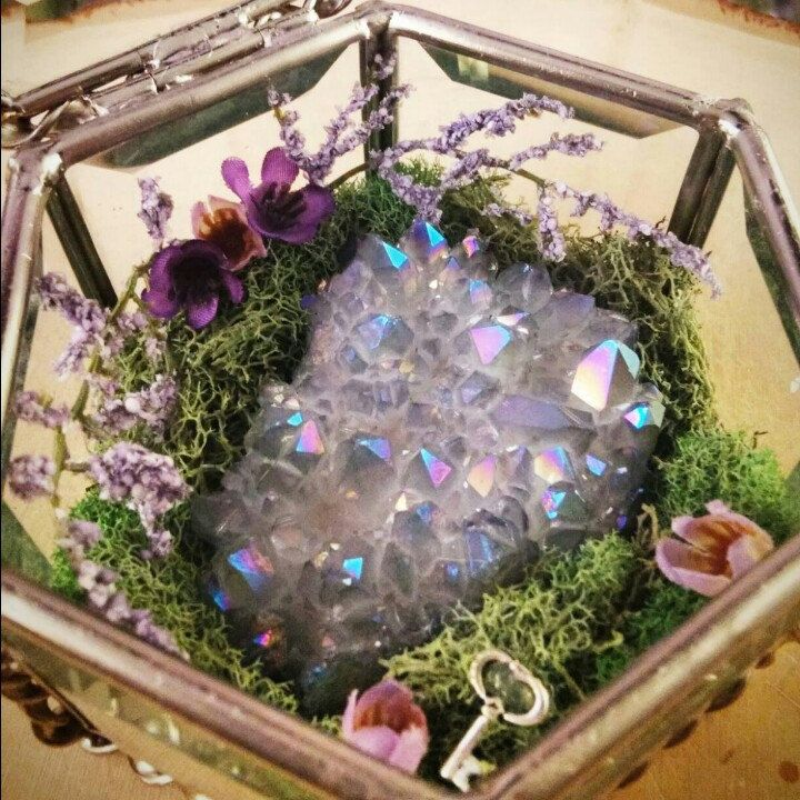 The Angel Aura Quartz Crystal Garden is now available! #crystals #gemstones…