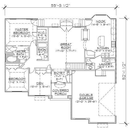 Habitations 1672 Add 3rd Car And Bonus Professional House Floor Plans Custom Design Homes House Floor Plans Floor Plans How To Plan