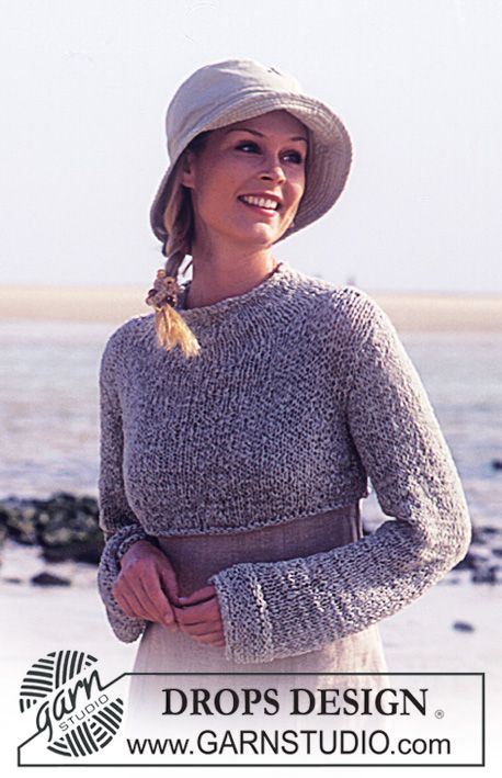 DROPS Short sweater in Passion ~ DROPS Design | Knit and crochet ...