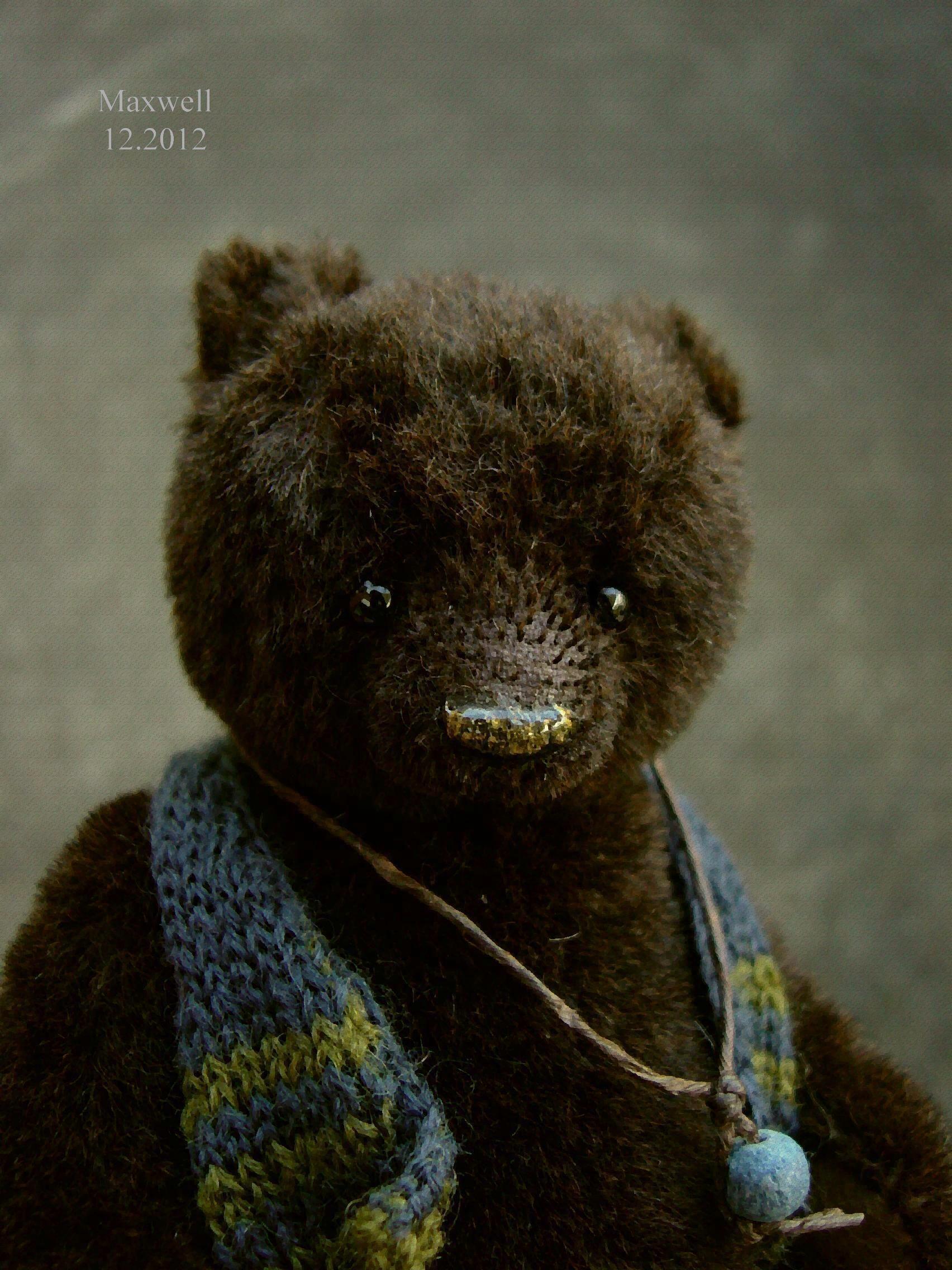 Maxwell, One of a kind Alpaca Artist Bear from Aerlinn