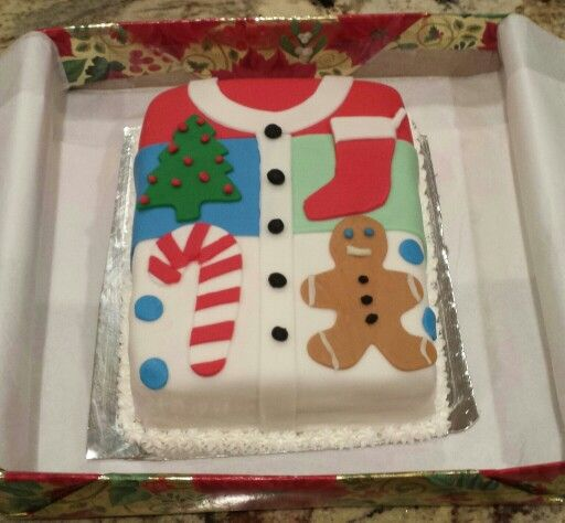 The cutest ugly Christmas sweater cake for Colleen\u0027s party We