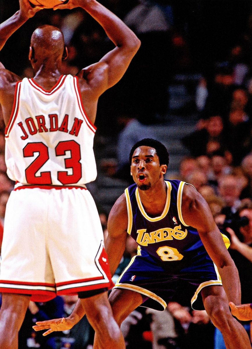 Legends Of Basketball Kobe Bryant Vs Jordan Gourd Ding Each Other
