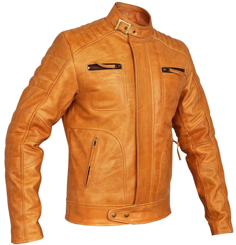 Thrix Leather Mens Designer Weybridge Leather Jacket at