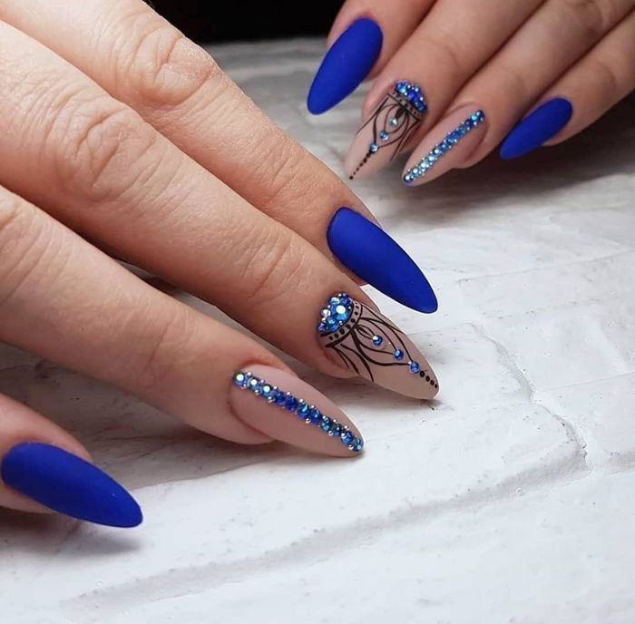 99 Best Chic Blue Nail Designs For 2020 - Page 4 of 5 - meetflyer.com