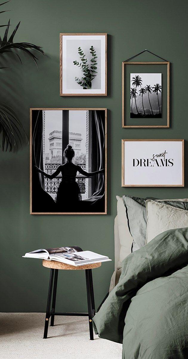 Grün im Schlafzimmer ist der Trend von 2018! An der Wand oder auf deinem Bett ist – Wohnaccessoires – My Blog