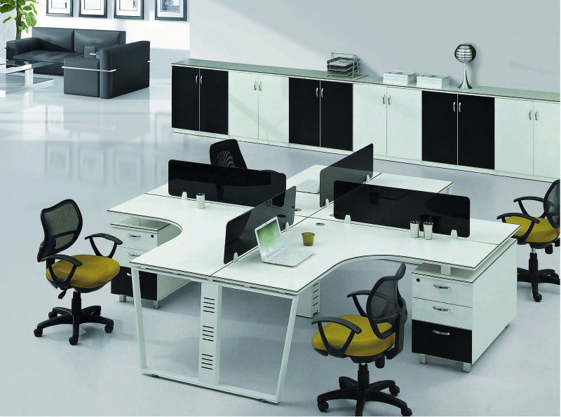 Cubicle Office Furniture Property 4 seat office workstation cubicle, standard office furniture