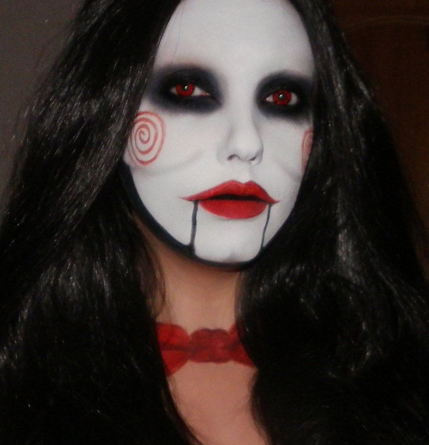 billy the puppet from saw makeup by me by marymakeup on deviantart maquillaje pinterest. Black Bedroom Furniture Sets. Home Design Ideas