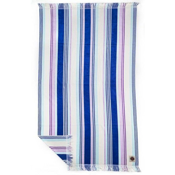 Ruby Mint Cabana Beach Poolside Towel Purple White By 78