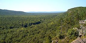 Porcupine Mountains, Upper Peninsula of Michigan near Lake Superior.