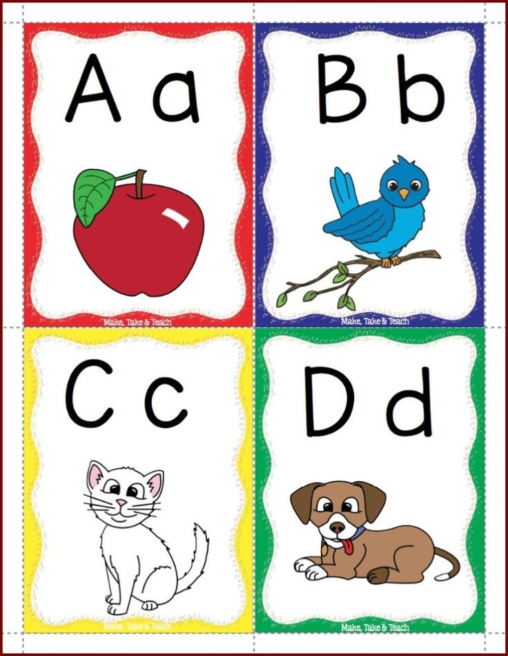 Alphabet Flashcards Freebie Preschool Palooza Pinterest