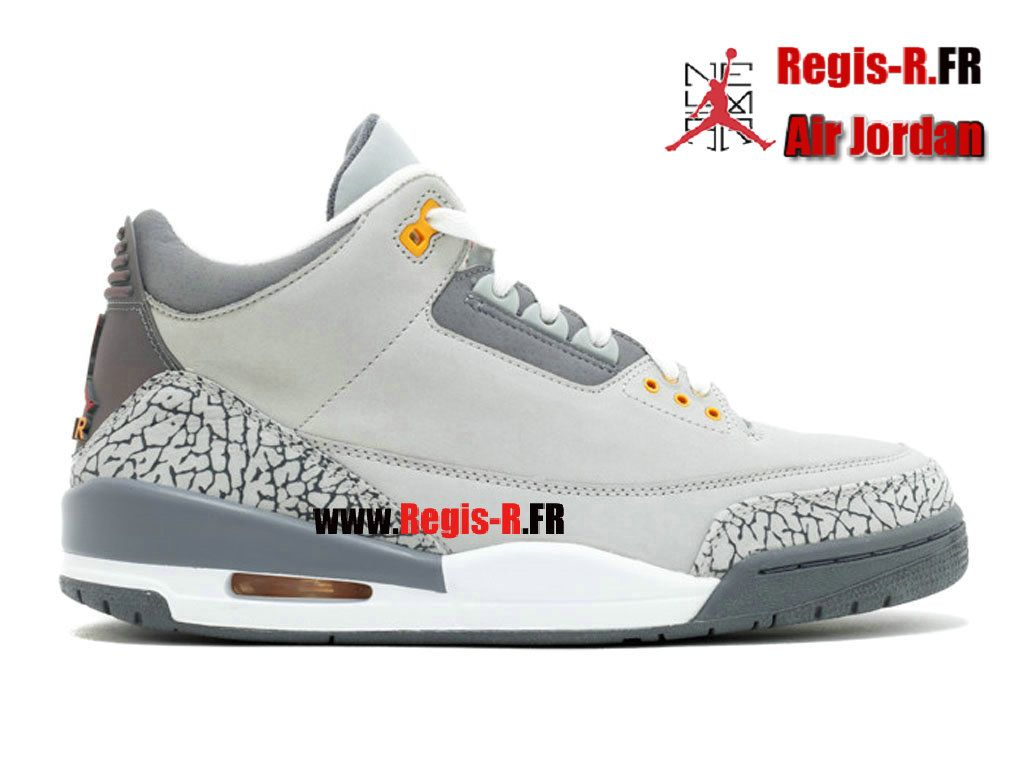 3 cher air jordan Chaussures retro grey Pas CoedxQWrEB