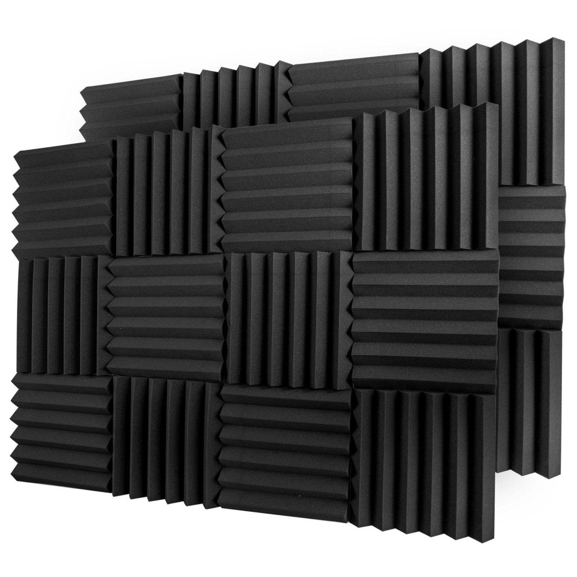 Bookishbunny 12 Pks Acoustic Foam Tiles Wall Record Studio Sound Proof 12 X 12 X 2 Fire Resistant Panels Black Walmart Com In 2020 Studio Foam Sound Proofing Foam Panels