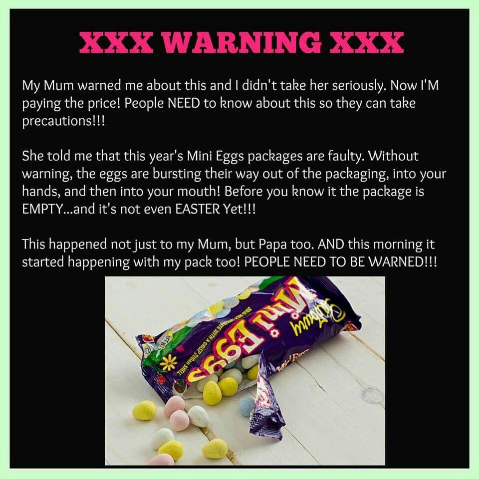 5822292aa964a38b007a42a1d2c05e19 cadbury mini eggs warning quotes and stuff pinterest mini eggs