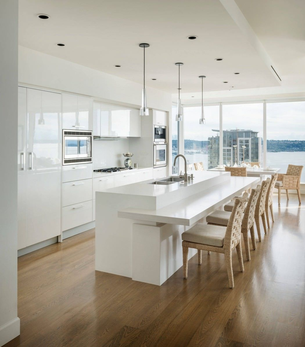 High Gloss Kitchen Island: White Wash By Christian Grevstad
