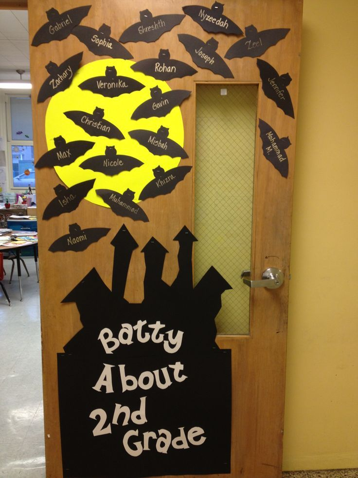 Halloween Classroom Decoration ~ Drug free door decorations we are batty about being