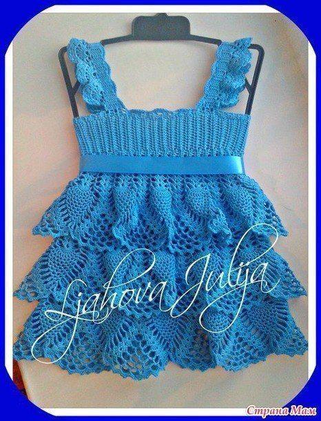 Pineapple Ruffles Baby Dress Crochet Baby Dresses Pinterest