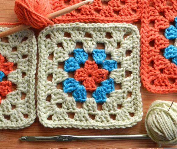 C mo tejer cuadraditos a crochet f cil deshilados - Manta de crochet facil ...