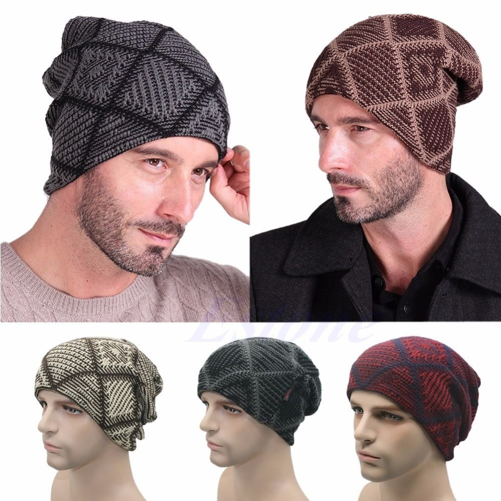 4d786a4ca9 Click to Buy << New Men Cashmere Knit Hat Ladies Knitted Woolly ...