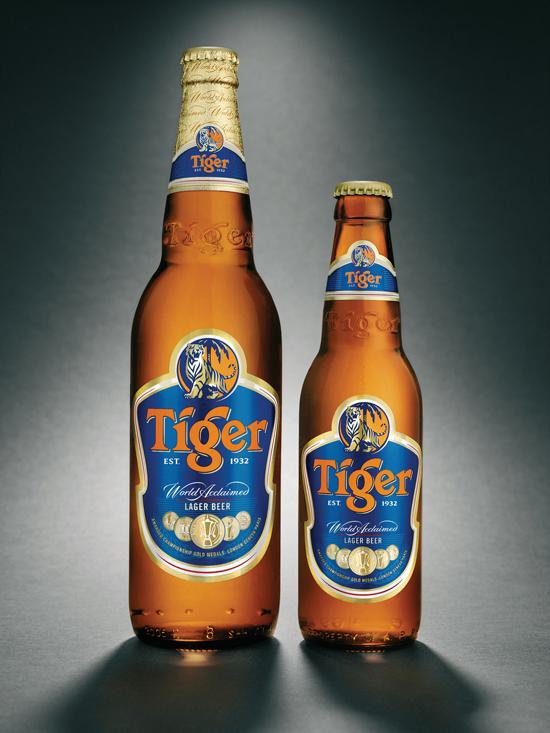 Logo Design The Work Of Rob Clarke Tiger Beer Beer Bottle Logo Design