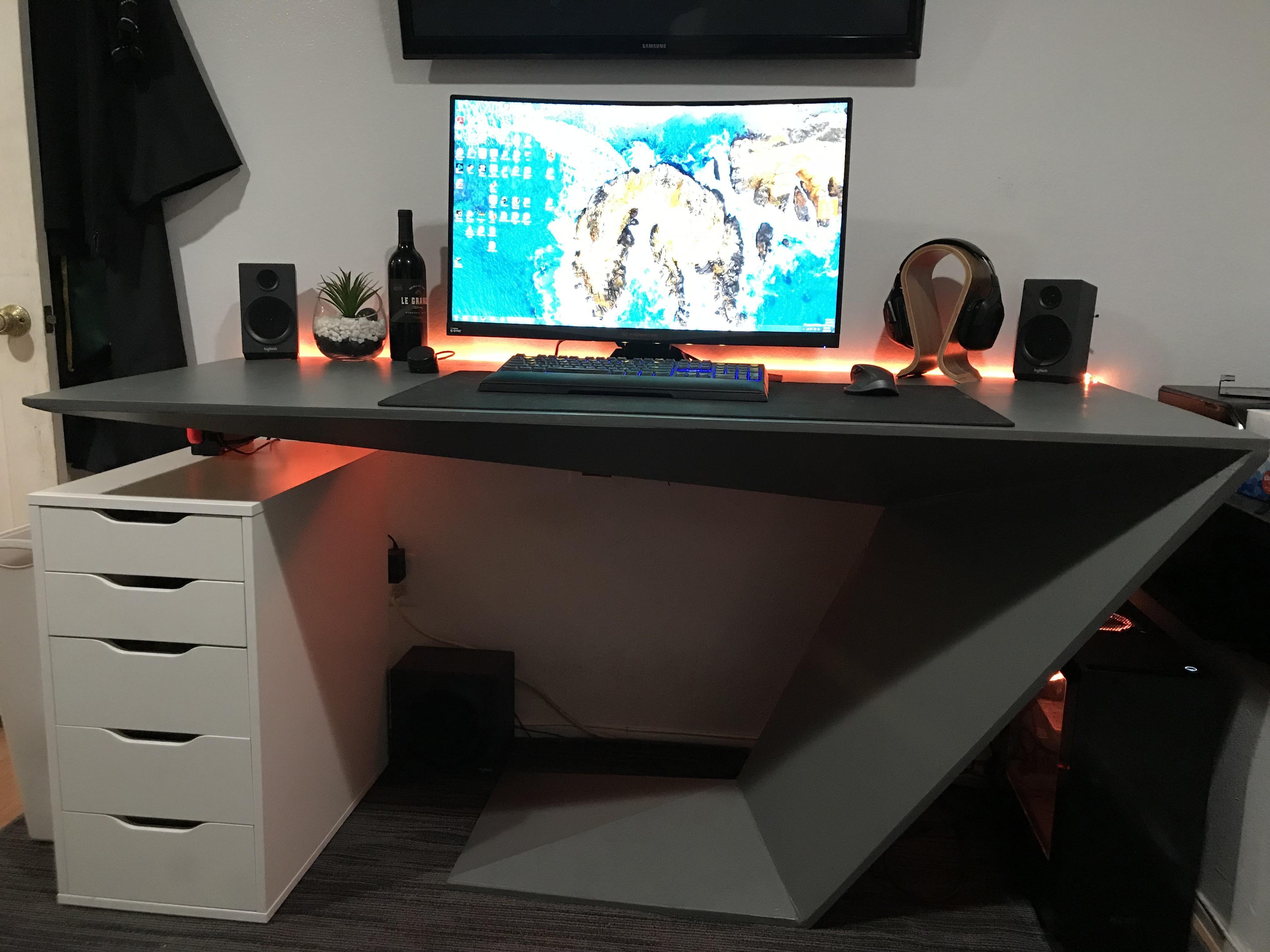 The Furtif Desk Battlesation Desk Standing Desk Home Decor