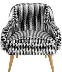 Buy Habitat Momo Black And White Dogtooth Armchair At Argos Co Uk