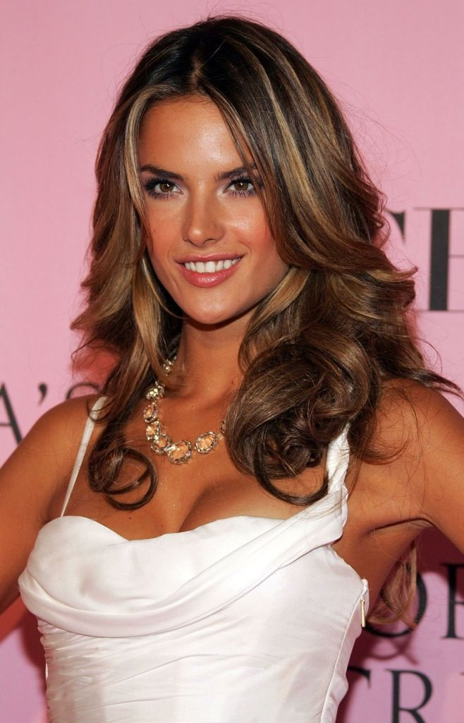 Highlights Hair Pinterest Alessandra Ambrosio Hair Make Up