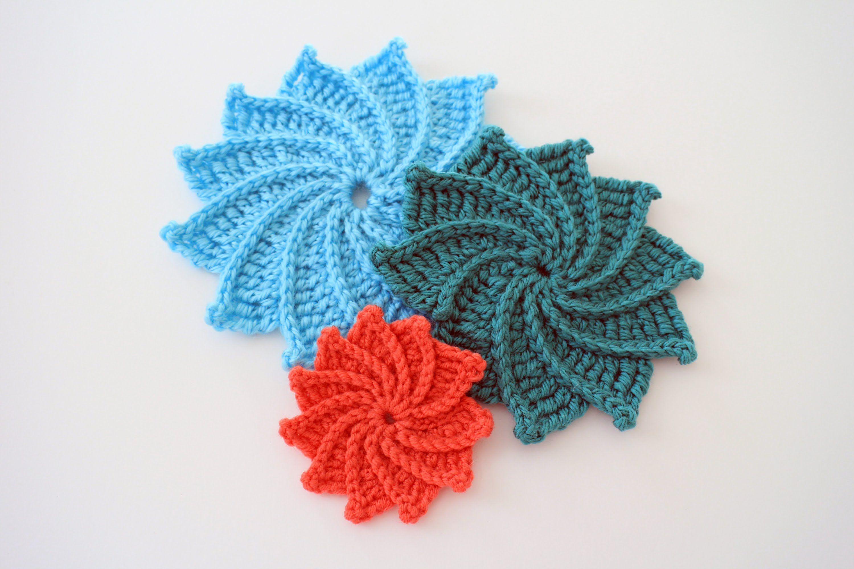 How to Crochet the Spiral Crochet Flower | Mandala/Untersetzer ...