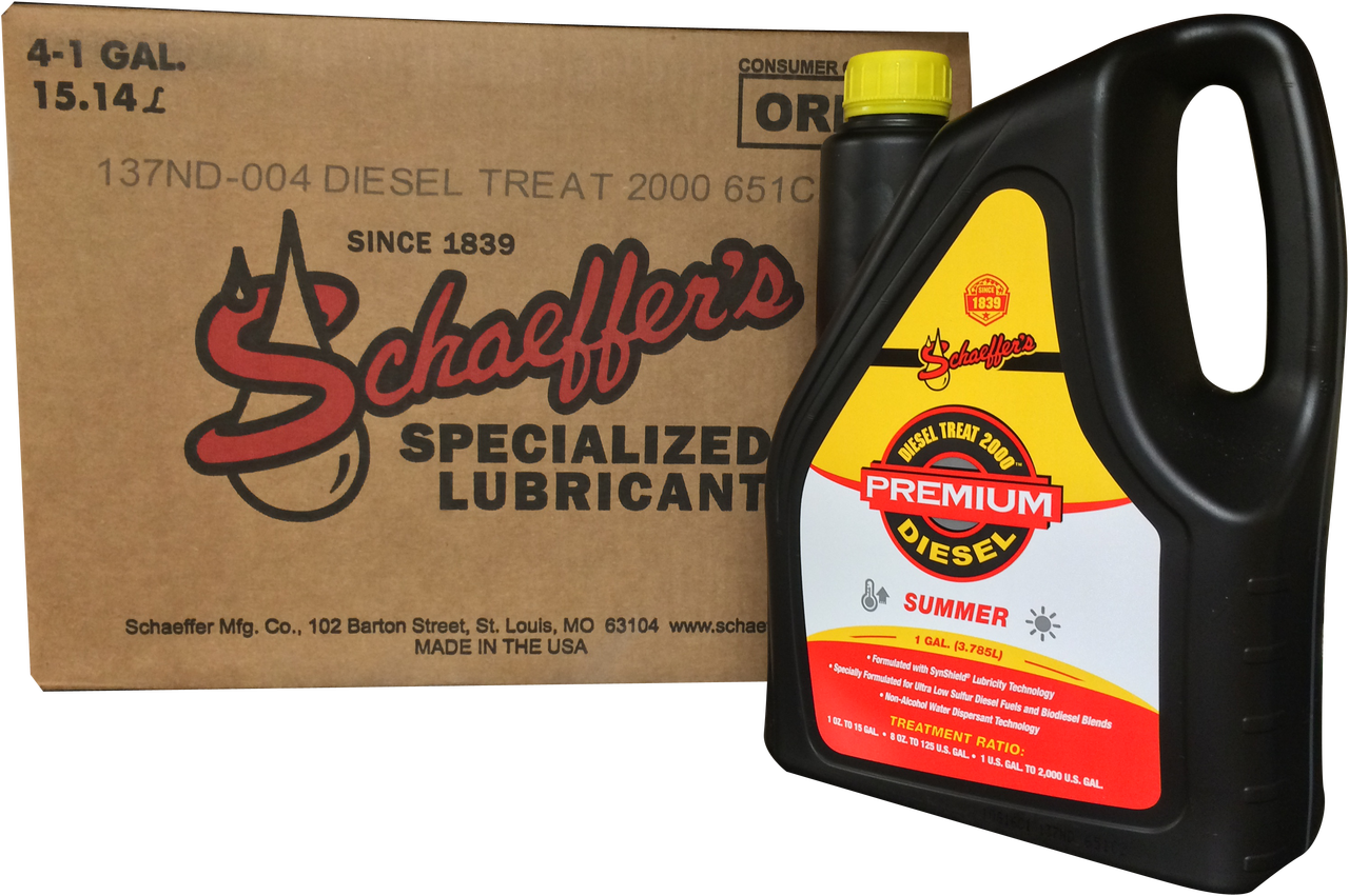 Schaeffer 137nd 2000 Diesel Fuel Treat 4 Gallon Case Diesel Fuel Diesel Fuel Additives Fuel