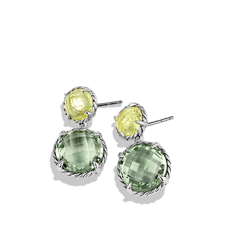 Chatelaine Double-Drop Earrings with Prasiolite and Lemon Citrine