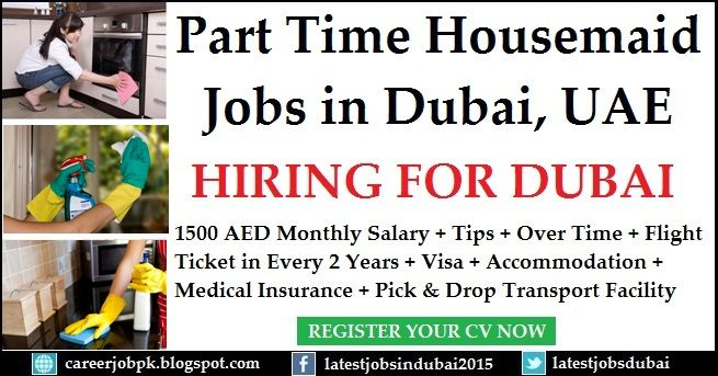 Part Time Housemaid Jobs In Dubai 1500 Aed Monthly Salary Tips