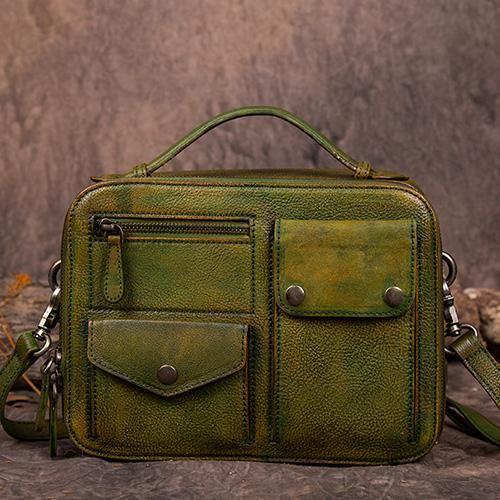 Photo of Vintage Leather Messenger Bag Vintage Satchel Bag