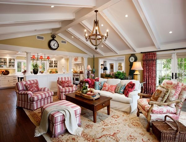 20 Dashing French Country Living Rooms Family Room