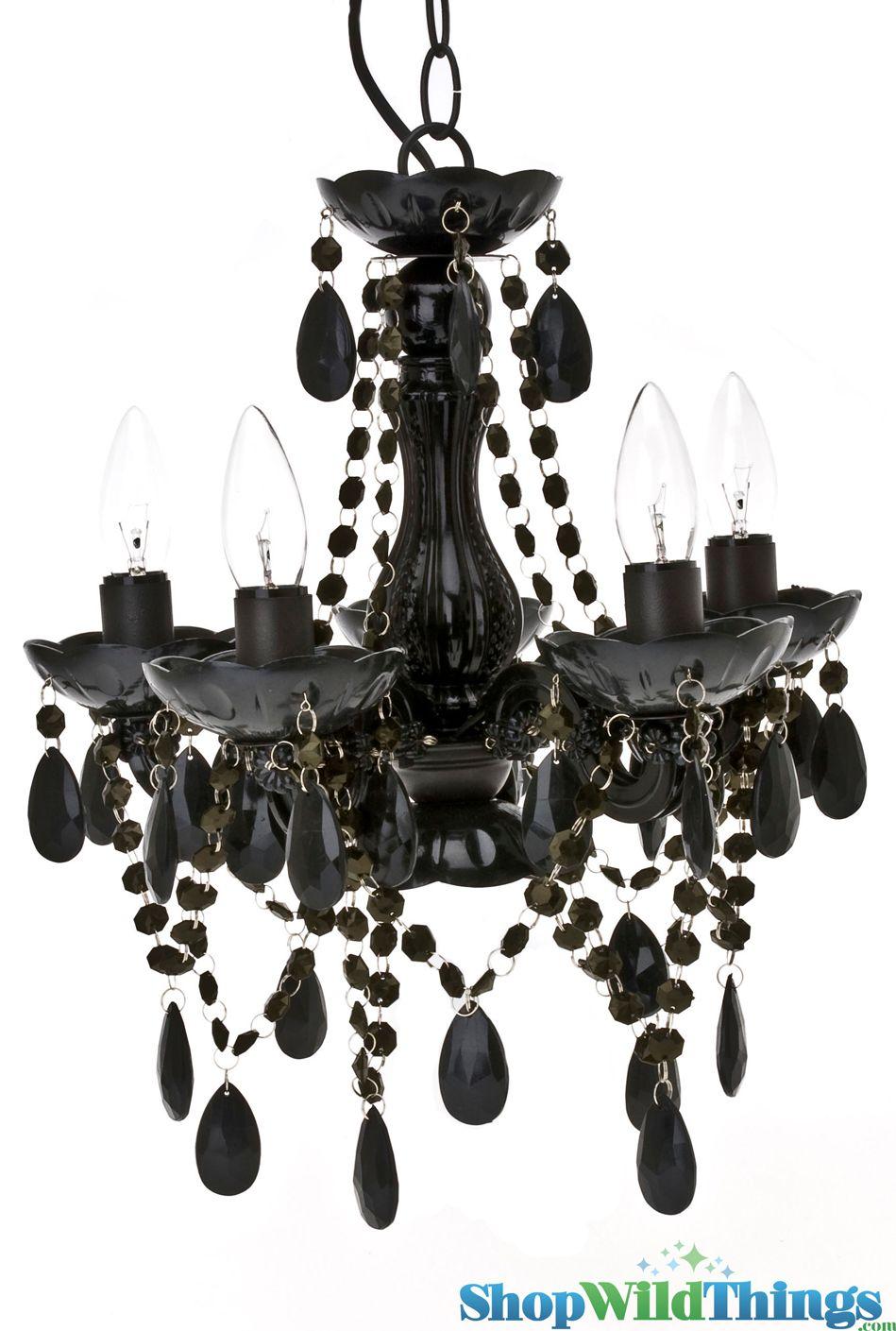 Plug In Or Convert To Hard Wire Acrylic Metal Glass Resin15 X 11 The Shopwildthings Tango Black Chandelier Gothic Chandelier Chandelier Ceiling Lights
