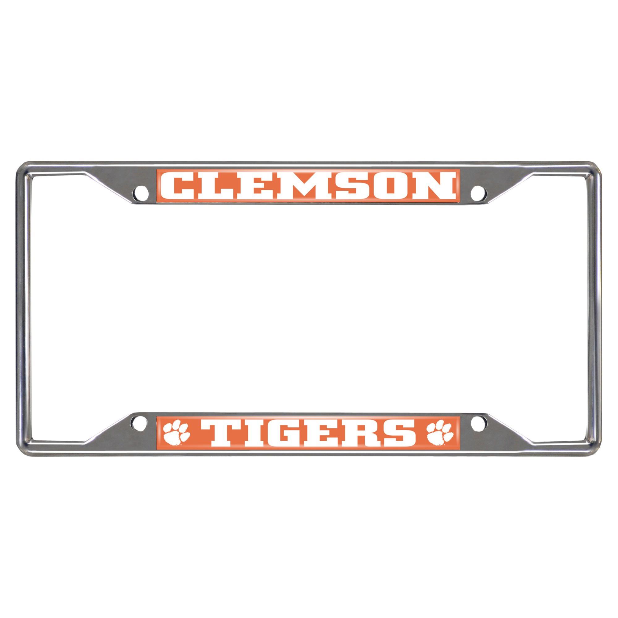 NCAA License Plate Frame Clemson University   License plate frames ...