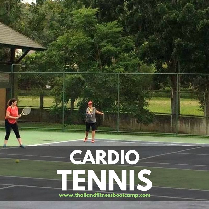 Cardio Tennis is a high energy fitness that combines the