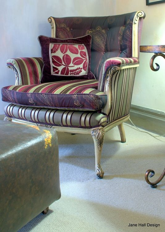 Custom Made silla tapizada del brazo vendimia   sillas con ...