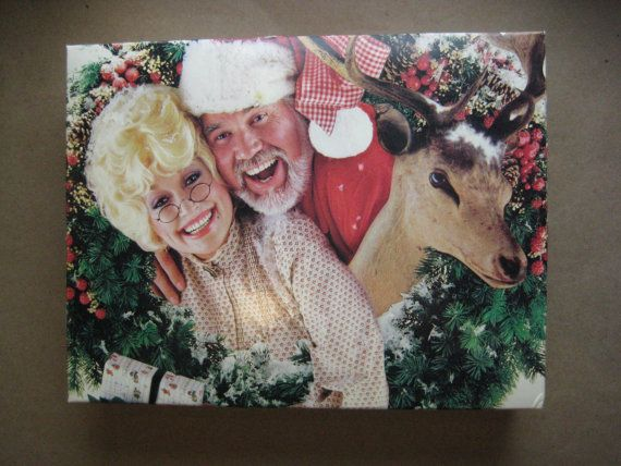 Dolly Parton and Kenny Rogers Christmas Gift Box with ...