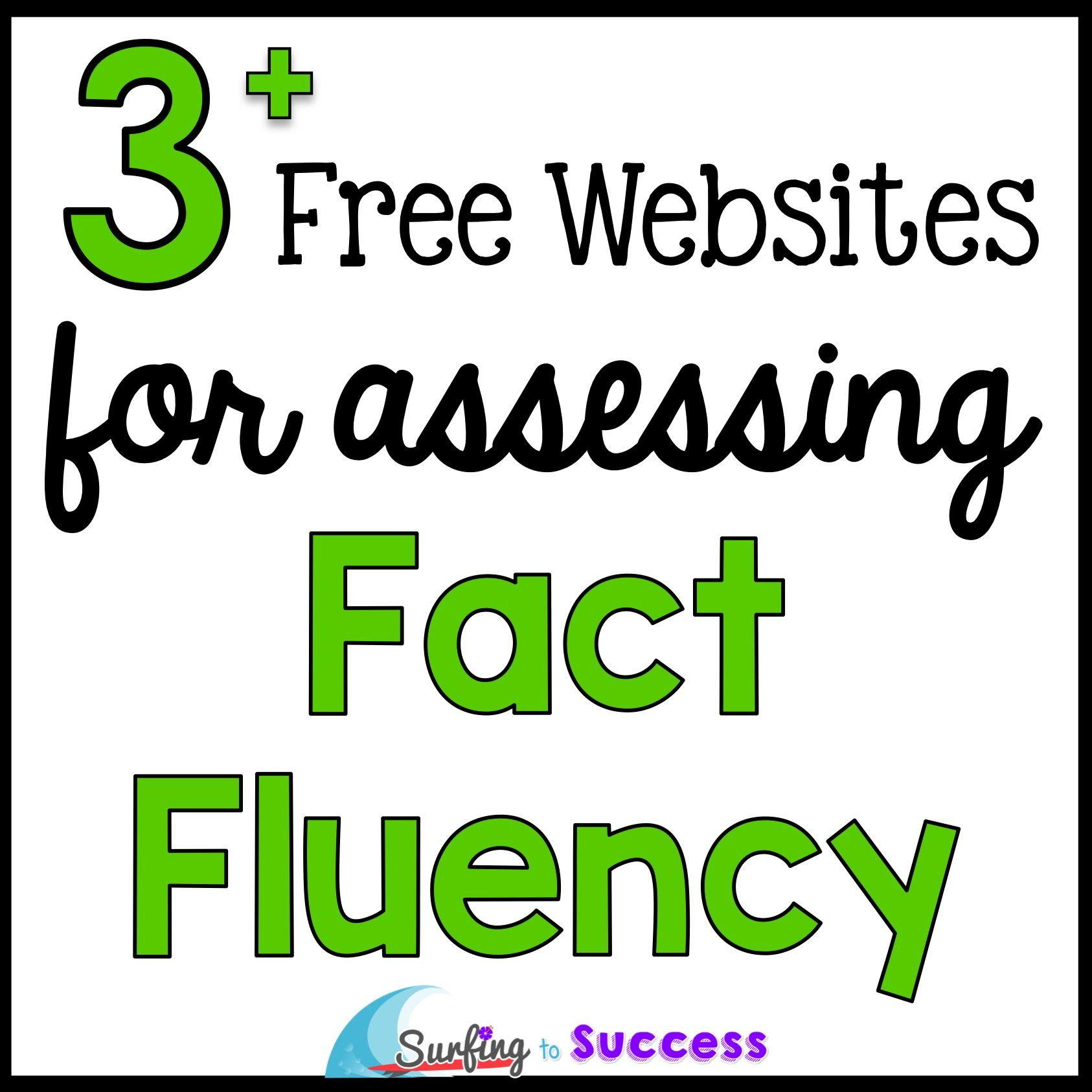 Free Websites to Assess Fact Fluency | Math, Students and Teacher