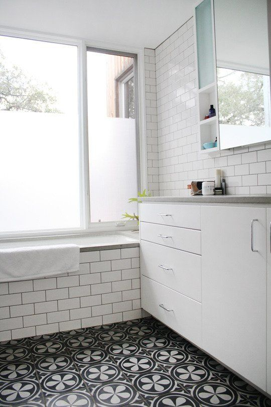 Love The Flooring With Simple Subway Tile I Would Ewven Do A Lovely Mexican Colorful For Floor