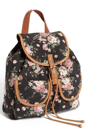 896b719e3023 Amici Accessories Rose Print Canvas Backpack (Juniors) (Online Only)  available at  Nordstrom