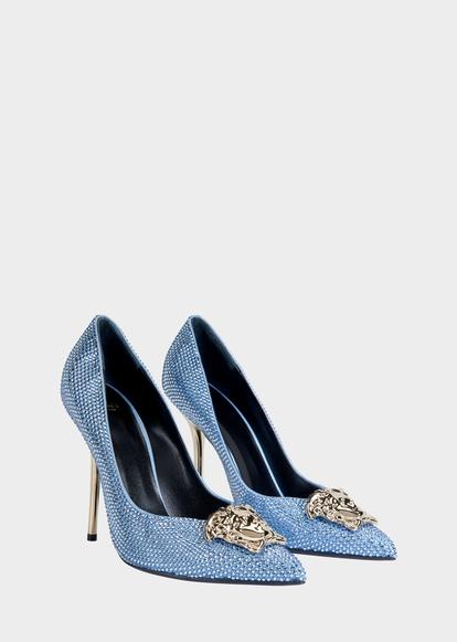 420137955709 Crystal Palazzo Pumps - blue