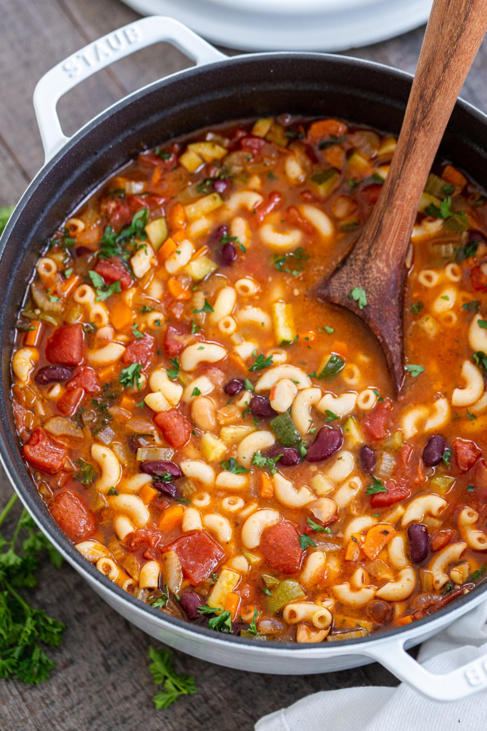 Minestrone soup is so hearty it can stand on its own as