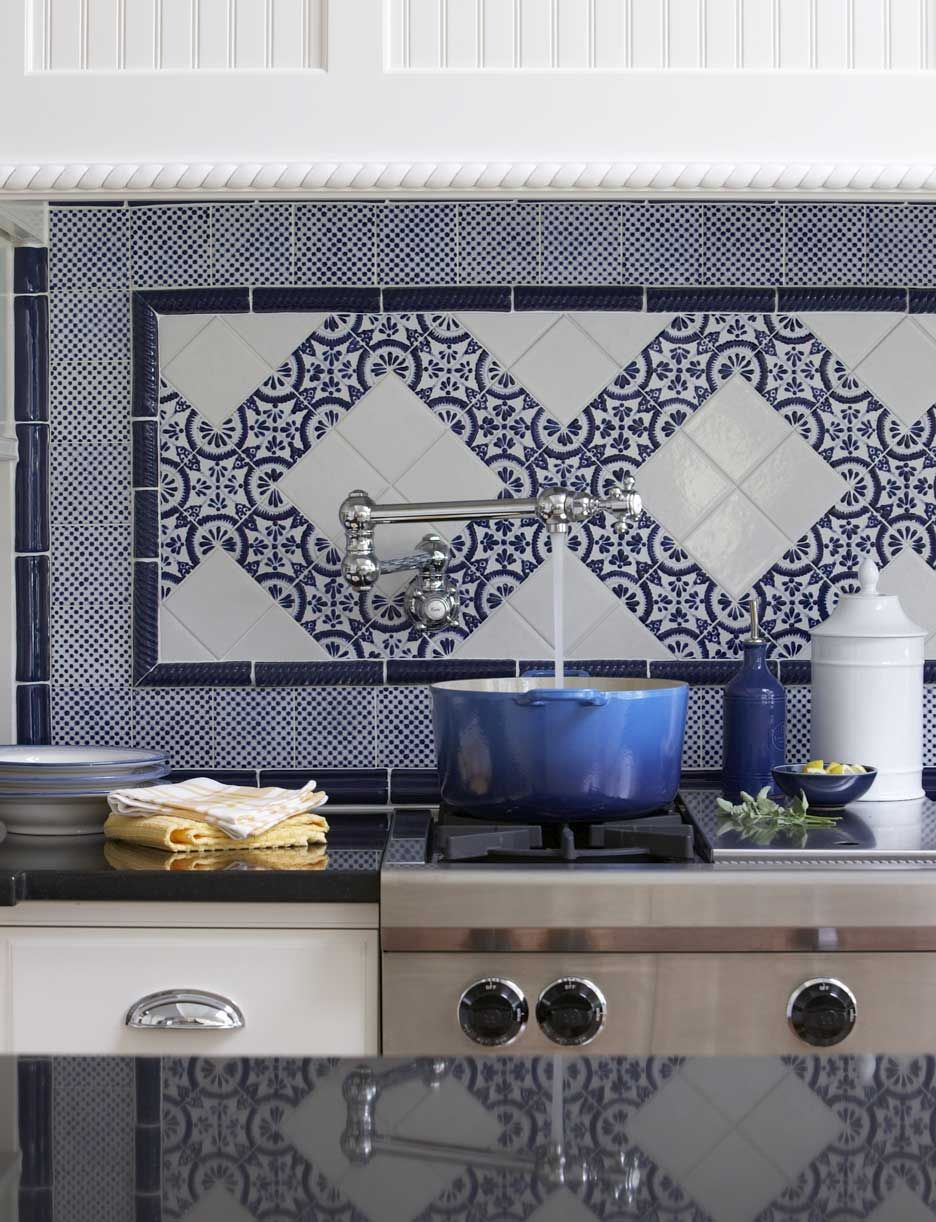 - A Blue And White Backsplash To Envy Kitchen Backsplash Tile
