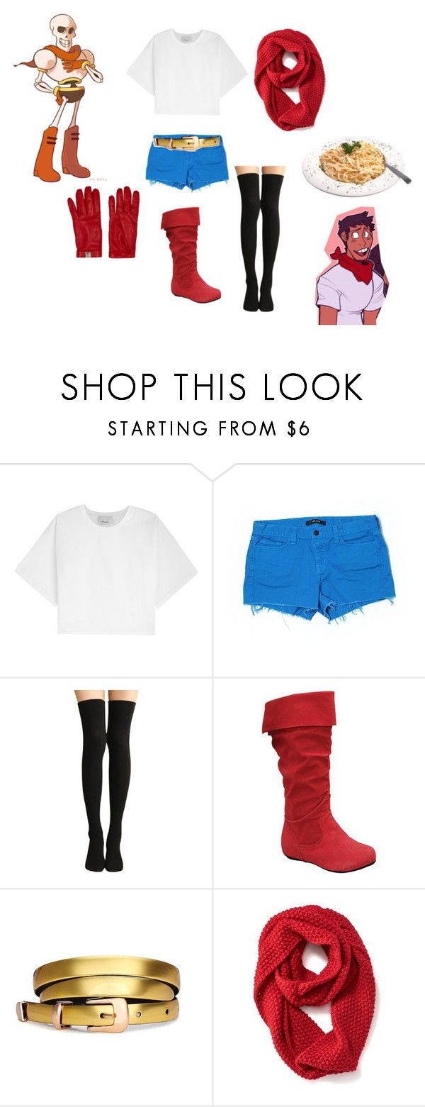 """""""Undertale - Papyrus"""" by thecaptain101 ❤ liked on Polyvore featuring 3.1 Phillip Lim, J Brand, Old Navy and Valentino"""
